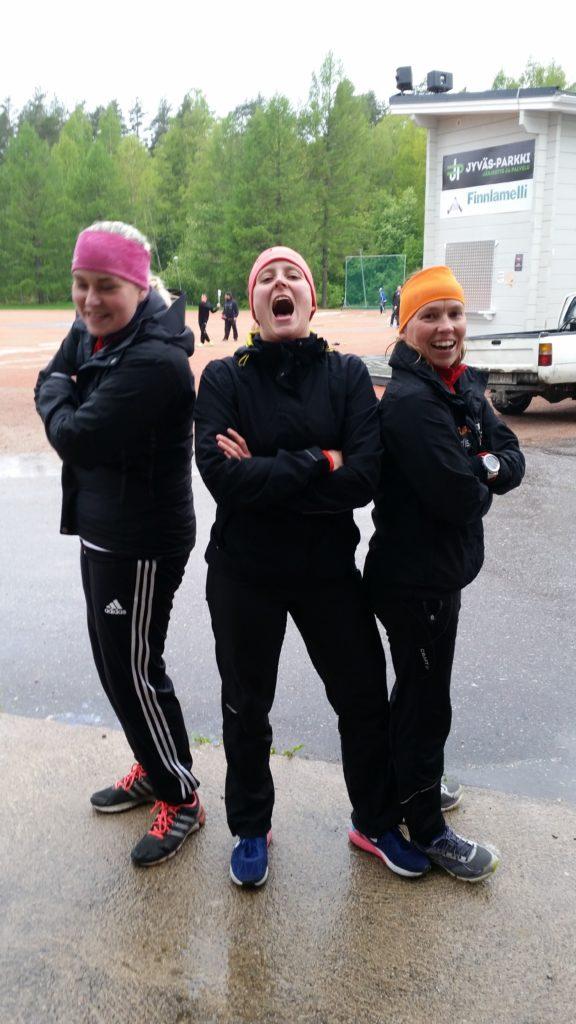 Nina Huovinen, Sini Siekkinen ja Johanna Vikman